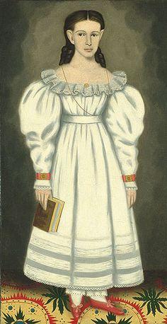 Girl of the Bangs-Phelps Family, ca. 1848  Erastus Salisbury Field (American, 1805–1900)  Oil on canvas