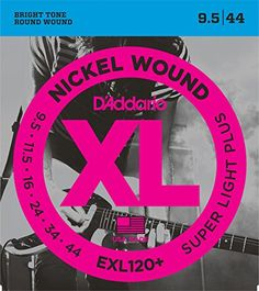 DAddario EXL120 Nickel Wound Electric Guitar Strings Super Light Plus 9544 *** Read more reviews of the product by visiting the link on the image.Note:It is affiliate link to Amazon. #happy