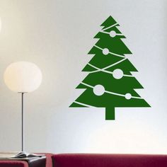 Holiday Vinyl Wall Lettering Christmas Tree Ornaments Decal Quotes Decoration