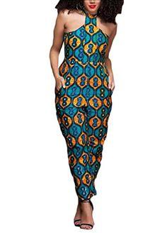 583c40c76db11 RDHOPE-Women Sleeveless Printing Sexy Leisure African Jumpsuit Romper