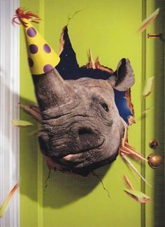 """Greeting Card Birthday Humor """"Ok, Now It's a Party!"""""""