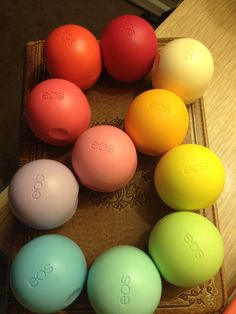 EOS LIP BALM COLLECTION!!! :) (not mine though.) I LOOOOOVVVEEE EOS!!!!