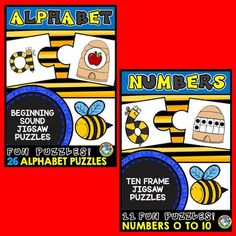 #BEES #THEMED #PUZZLES: #ALPHABET & #NUMBER #ACTIVITIES