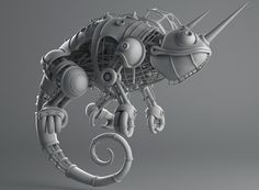 Chameleon - Sketch by Fabio Wasques | Creatures | 3D | CGSociety