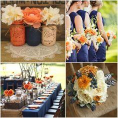 narancs kék esküvő