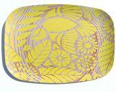 """Grain de bois 14 """"plateau de la dentelle indien, jaune soleil"""