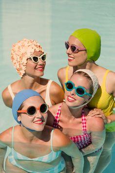 Framing Photography, Fine Art Photography, Fashion Photography, Retro, Swim Caps, Vintage Swimsuits, Oui Oui, Poses, Bathing Beauties