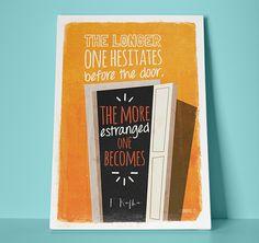 Kafka quote - poster by unaManu ., via Behance