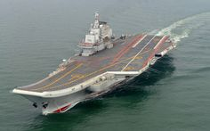 PRC carrier, the Liaoning, the 60,000 ton carrier was originally built for the Soviet navy but has been completely refitted by the Chinese.