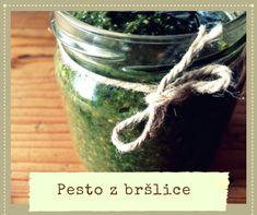 Pesto z bršlice Korn, Kimchi, Pesto, Pickles, Cucumber, Mason Jars, Pump, Mason Jar, Pickle
