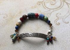 Turquoise Bracelet Carnelian Sodalite Lapis by SacredArtwear