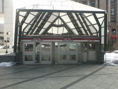 South Station redline entrance; One Financial Center side.