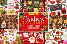Christmas Scene Creator Volume 2 by pixaroma on @creativemarket