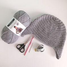 Beanie with Earflaps (large) - free crochet pattern at Sunny Sunflower Crafts Mens Beanie Crochet Pattern, Crochet Beanie, Crochet Hats, Knitted Hat, Vintage Crochet Patterns, Easy Crochet Patterns, Free Crochet, Crochet Ideas, Elephant Hat