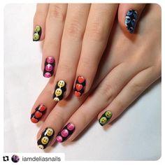 We have so many feels about these nail wraps. We also <3 iamdeliasnails(IG) for this smashing photo of our Emoji nail wraps! #EspionageCosmetics #NerdManicure #NerdNails #NailArt #Nailspiration #Manicure #Emoji