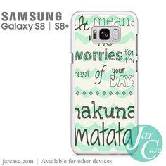 Hakuna Matata No Worries Quote Phone Case for Samsung Galaxy S8 & S8 Plus