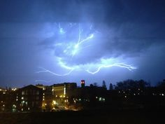 WSU Lightning storm on campus.