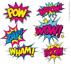 SUPERHÉROES rosa Pop Art Clipart para imprimir por VivisPartyShop Art Pop, Pop Art Girl, Wonder Woman Birthday, Wonder Woman Party, Girl Superhero Party, Comic Text, Avengers Birthday, Hero Girl, Teen Titans Go