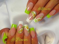 Fails art flowers website Ideas for 2019 French Nail Designs, Toe Nail Designs, Beautiful Nail Designs, Fancy Nails, Trendy Nails, Cute Nails, Neon Nails, Cute Acrylic Nails, Spring Nails