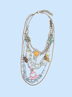lulu frost statement necklace do-it-yourself  with vintage jewels and chains galore.