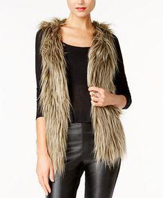 GUESS Michela Faux-Fur Vest