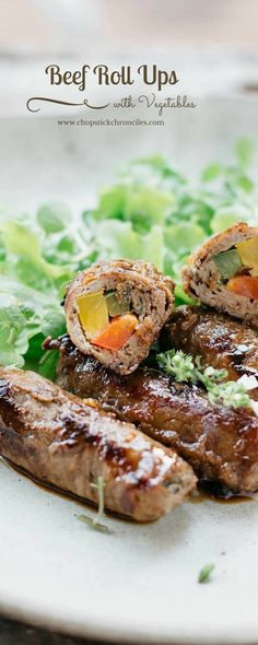 Japanese beef roll ups