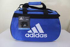"""adidas diablo small duffel sport gym bag blue 18.5"""" x 11"""" x 10"""" luggage #adidas #duffel #gym #bag #luggage"""