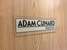 Smart NamePlates for your Business   Corporate Office Door Signs by  http://www.de-signage.com/Officesigns.php