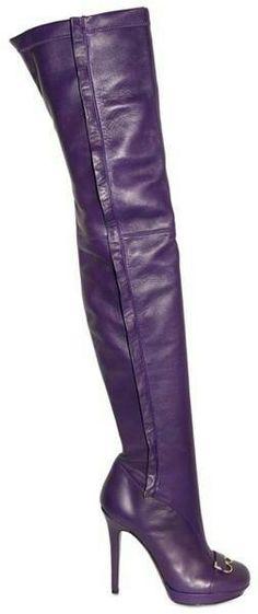 Purple knee high boots...sexy