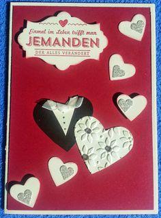 Tanja´s Stempel Zauberland: HochzeitskartenPapier/Farbe: Vanille, Morgenrot,...
