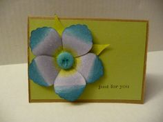 Another SU card made with Blossom Petals Builder punch