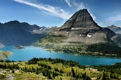 Hidden Lake - an extremely high Alpine lake that you can only access by hiking....but worth the effort!  Glacier National Park, Montana