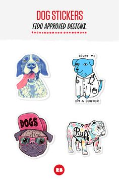 Dog Stickers - Fido Approved Designs.