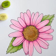 Copic tutorial and digi stamp freebie