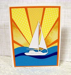 Ann Greenspan's Crafts: Just a few Sailboat cards