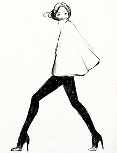 fashion illustration - Oranenco Designs Inc - for those days of fashion strike. Timeless - illustration by Garance Doré Mode Collage, Street Art, Street Style, Illustration Mode, Photo Illustration, Fashion Art, Fashion Design, Fashion Models, Fashion Trends