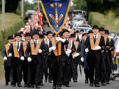 Fears of major street violence in Northern Ireland after Orange march is banned