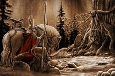 The God Odin and Mimir