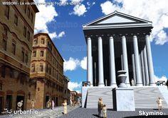 L'attuale Piazza Missori e la via che portava al Foro, ora sparita Ancient Rome, Byzantine, Roman Empire, Arch, Urban, History, Building, Travel, Bella