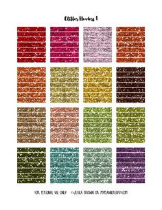 Hand Cut Glitter Headers Page 1 on myplannerenvy.com