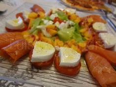 Luisa Alexandra: Salada Refrescante com Mussarela de Búfala e Salmão Fumado