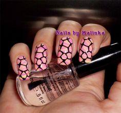 Nails by Malinka: Water marble and BM-XL17