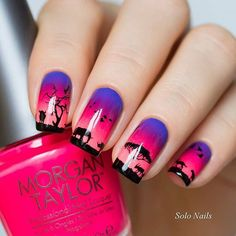 Amazing stamped nails by @solo_nails using stamping plate MoYou-London - Explorer 23 that you can get on whatsupnails.com (link -