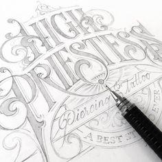 No photo description available. Tattoo Lettering Styles, Tattoo Script, Types Of Lettering, Lettering Design, Caligraphy Alphabet, Doodle Alphabet, Typography Letters, Letter Fonts, Penmanship