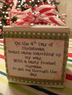 12 days of christmas teacher gifts. Could be used for Secret Santa or coworkers too Teacher Christmas Gifts, Xmas Gifts, Holiday Fun, Christmas Holidays, Christmas Ideas, Christmas Goodies, Christmas Presents, Christmas Neighbor, Holiday Quote