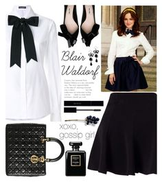 """Blair Waldorf"" by ayiarundhati ❤ liked on Polyvore featuring Miss Selfridge, Dolce&Gabbana, Christian Dior, Gucci and Chanel"