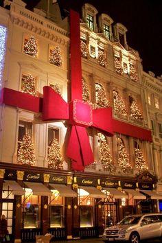 Cartier Bond Street at Christmas New York City