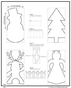Christmas Bunting; Here are Some More Cute Paper Chain Templates! There's a Snowman, Reindeer, Angel and Christmas Tree, along with easy directions on how to cut and fold the paper to make these paper chains. Tape several of them together to make cute Paper Garlands and Decorate with Glitters or Paint! Read more at http://www.craftjr.com/christmas-paper-chains/