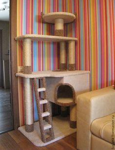 Furniture For Sale Online Cat Tree House, Cat Tree Condo, Cat Condo, Cool Cat Beds, Cat Castle, Diy Cat Tree, Cat Towers, Cat Playground, Pet Furniture