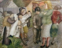 Village Life  by Stanley Spencer 1939-1940